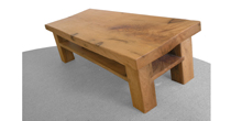 Turkey oak coffee table