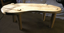 Oak & chestnut coffee table