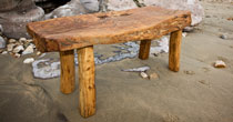 Hewn chestnut coffee table