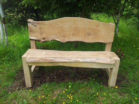 waney edge oak bench 2